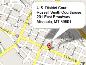 US District Court Missoula Division District Of Montana - Missoula mt us map
